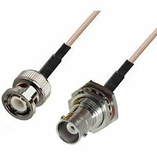 RF pigtail cable BNC male to BNC female bulkhead RG316 30CM