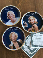 The Bradford Exchange – Marilyn (Monroe): The Golden Collection - 3 Mint Plates