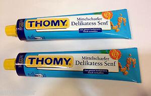 2x Thomy Mild Mustard Tube, Mittelscharfer Delikatess Senf 2x200g from Germany