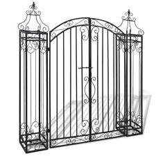 Cancello cancelletto da Giardino ornamentale in ferro 122x20,5x134