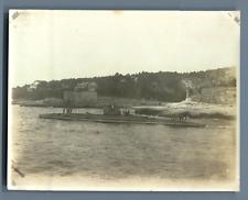 Sous-marin en surface  Vintage silver print. Tirage argentique d'époque
