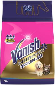 Vanish Haustier-Experte Teppichpflege Teppich Reiniger Urin Gerüche Pulver 750 g