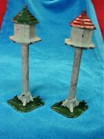 VINTAGE J. HILL & CO. BIRD HOUSES - 2 DIFF. COLORS - NICE