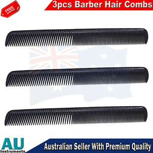 Beauty Salon Barbers Hair Comb Black Color Plastic Hairdressing Hairstyling 3pcs