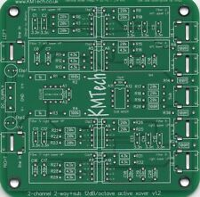 2 Channel 3 way inc sub 12dB/oct OPA2134 crossover filter Buttkicker PCB ONLY