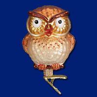 """""""Hootie Cutie"""" (Owl) (18106)X Old World Christmas Glass Ornament w/ OWC Box"""