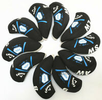 10PCS Black Neoprene Golf Club Iron Protective Covers for Callaway Rogue Irons