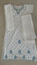 Indian Ladies Dress, Gently Used, Size M, Chest 34, Nylon, Color White