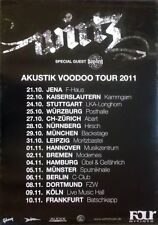 WIRTZ - 2011 - Tourplakat - Akustik Voodoo - Tourposter