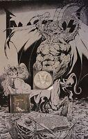 FAUSTUST ''THE COMING OF THE BEAST'' POSTER TIM VIGIL DEVIL SATAN DANZIG  666