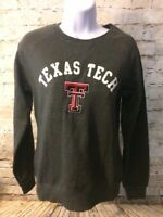 Texas Tech Womens College University Pullover Gray Sweater Size Small [A199]