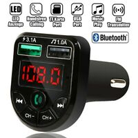 Blue-tooth FM Transmitter KFZ Auto Radio MP3 Player Dual USB Freisprechanlage DE
