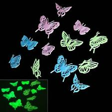 12pcs Accessories Party Wall Sticker Luminous Butterfly Glow In The Dark Home