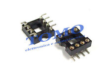 Zoccolo DIP8 tornito SMD 8 pin code GOLD-8P-SMD