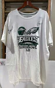 Philadelphia Eagles SuperBowl T-shirt signed by 2 Cheerleaders