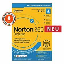 Norton Security 360 Deluxe 2021 3 PC Geräte 1 Jahr