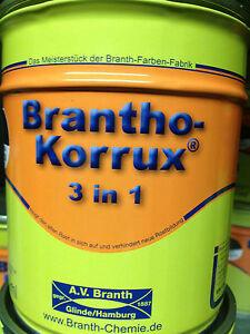 Brantho Korrux 3in1 Rostschutz & Metallschutz Farbe 750ml Farbauswahl Branth