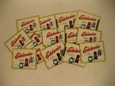 Lot of 14 1960s Edelweiss Beer labels from South Bend IN Tavern Trove