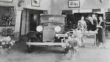 "1932 Ford  Dealer Showroom 12 X 18"" Black & White Picture"