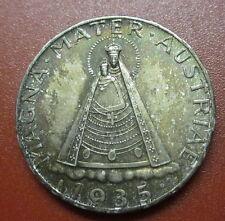"Austria 5 shilling 1935 Madonna Jesus Vienna  ""High Grade""  Silver (AG3)"