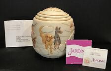 "New ListingRare Nib Harmony Ball Jardinia Dog Themed Large 5.75"" Cachepot Good Day Sunshine"