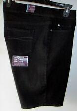 Gloria Vanderbilt Avery 24W Black Pull On Bermuda Mid Rise Flex Stretch Shorts