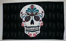 Day Of The Dead Sugar Skull Flag 3' X 5' Dia De Los Muertos Holiday Banner