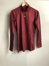 Puma Men's Core LS Baselayer Skin Top - Large (L) - Burgundy - New