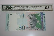 (PL) PMG SALES: RM 50 ZA 9890869 PMG 63 ZETI 11TH SERIES REPLACEMENT NOTE