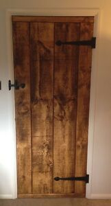 RUSTIC OLD WORLD LEDGED DOORS ~ RUSTIC FINISHED - ALL SIZES MADE