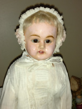 "19"" German Patent Washable Papier Mache Shoulder Head Doll w/Working Crier"