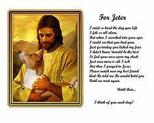 Personalized Pet Memorial - Basenji Memorial Picture w/Jesus/Poem w/Dog's Name