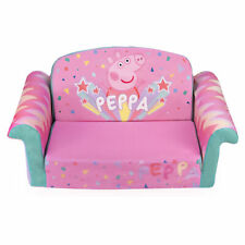 Marshmallow Furniture 2-in-1 Flip Open Kids Couch Bed, Peppa Pig (Open Box)