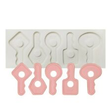 Vintage Key Silicone Mould Cake Decorating Sugar Topper Chocolate Baking Mold 3D