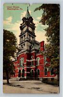 Huntingdon PA, Courthouse, Vintage Pennsylvania Postcard