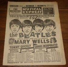 NME MAGAZINE PAPER 9 OCTOBER 1964 BEATLES MARY WELLS ROLLING STONES P.J. PROBY