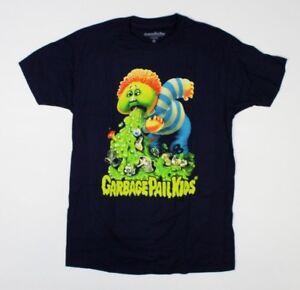 Garbage Pail Kids Retro 80s Trading Card Series Navy Blue T-Shirt New! (1E1