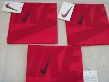 NIKE Vintage Bandana Set of  3,  Red 1996-1997 New with Tags