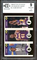 1996-97 Coll's Choice Los Angeles Lakers #L1 Kobe Bryant Rookie BGS BCCG 9 NM+