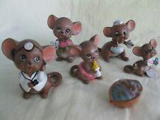 six Josef originals mice figurines