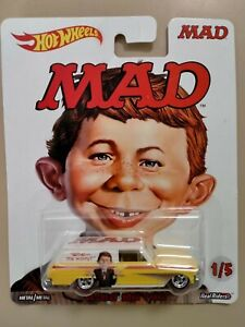 New Hot Wheels MAD Magazine ALFRED E NEUMAN Chevy Nova Panel Van Real Riders