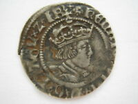 1526-32 Henry VIII Halfgroat Canterbury mint second coinage NVF