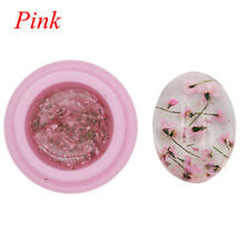 3d DIY Natural Dried Flowers Fairy Series Nail UV GEL Polish Manicure Decoration Pink