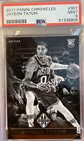 2017 Panini Chronicles Majestic #307 Jayson Tatum Rookie Boston Celtics PSA 9