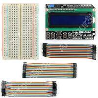 LCD 1602 Board Keypad Shield+400 P Breadboard+Jumper Wire M/F For Arduino B1