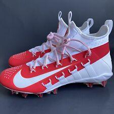Nike Alpha Huarache 6 Elite Lax 880409-106 Men's Red Lacrosse Cleats Size 8