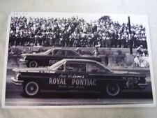 1960 PONTIAC  RACE CARS   1/4 MILE    11 X 17  PHOTO  PICTURE