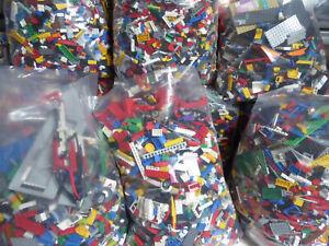 1kg-1000g Genuine Lego Bundle Mixed Bricks Parts Pieces. Job Lot +2 Figures