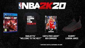 PS4 PLAYSTATION 4 NBA 2K20 PLUS EDITION DVD + DLC NUOVO ORIGINALE