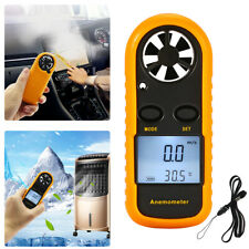 Digital LCD Air Wind Speed Anemometer Temperature Gauge Meter Test Thermometer E